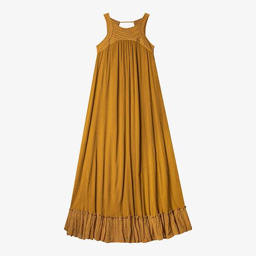 Dress Fabiola Mes Demoiselles color Cumin
