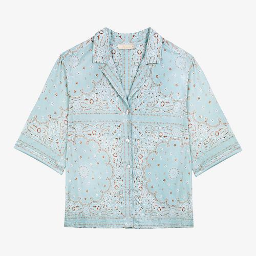 Shirt Sierra Mes Demoiselles color Aqua print