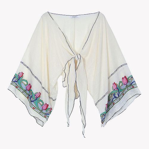 Kimono Conventry Mes Demoiselles color Ecru print
