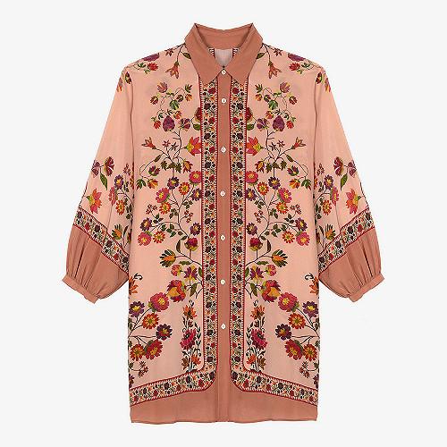 Shirt Drosera Mes Demoiselles color Pink print