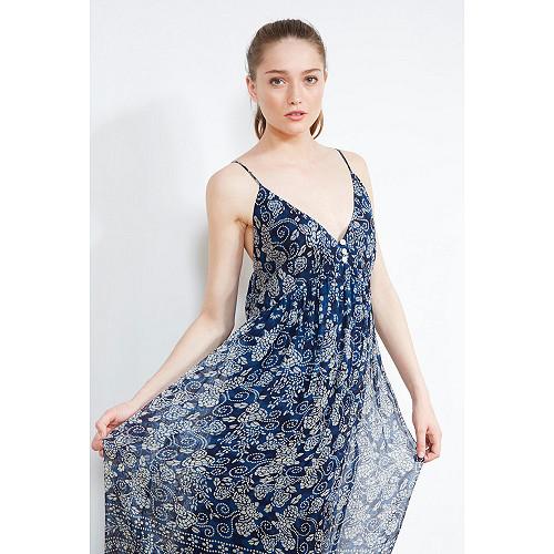 DRESS Barathi Mes Demoiselles color Blue print
