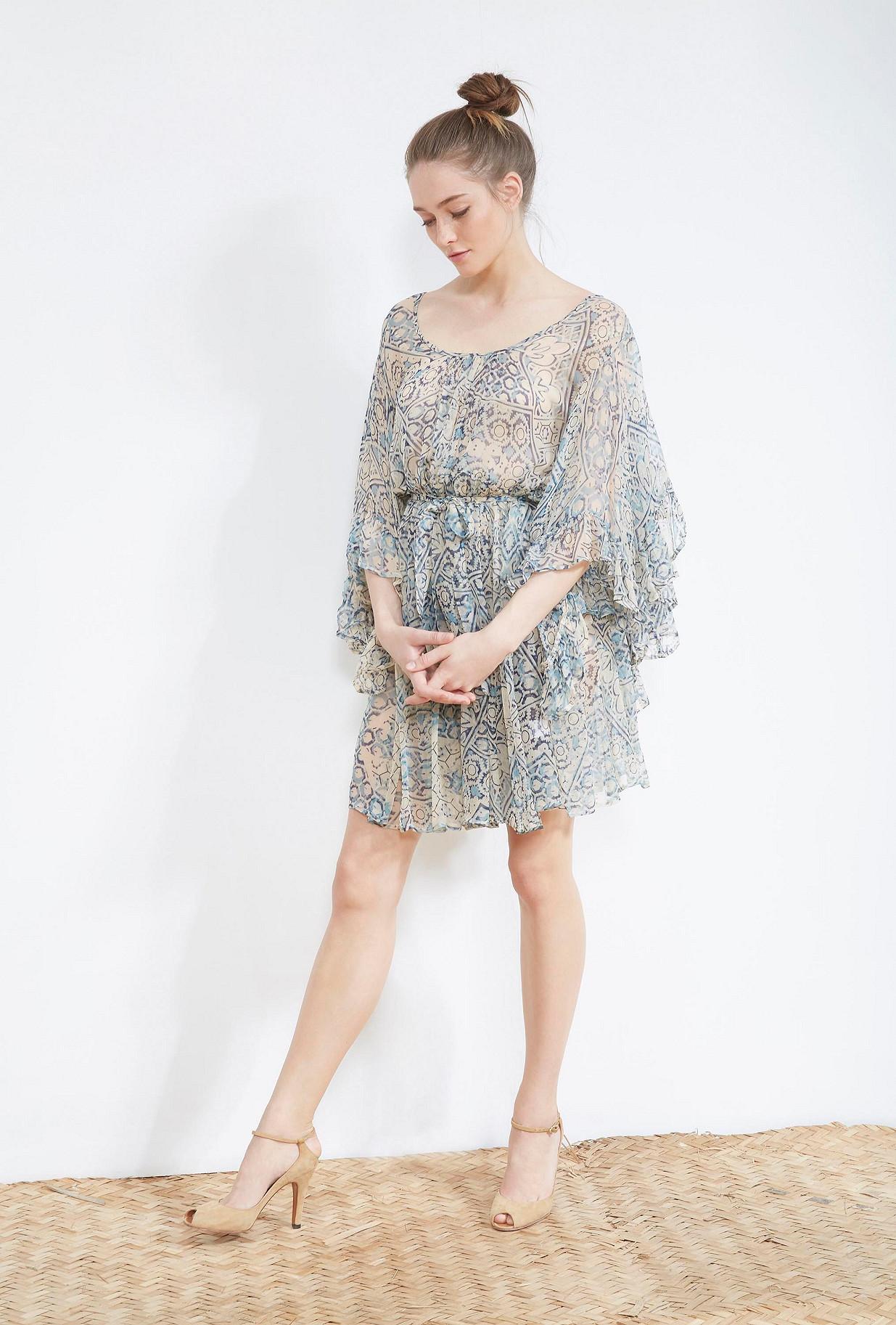 ROBE Imprimé bleu  Faenza mes demoiselles paris vêtement femme paris