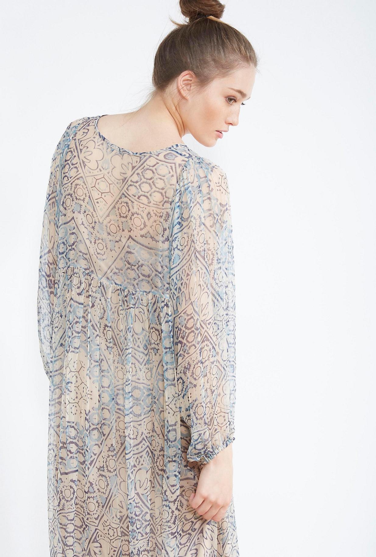 ROBE Imprimé bleu  Feydeau mes demoiselles paris vêtement femme paris