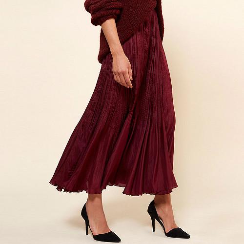 Skirt Phedre Mes Demoiselles color Berry
