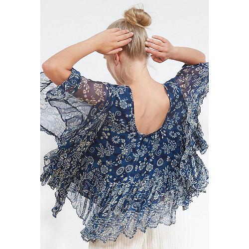 BLOUSE Barito Mes Demoiselles color Blue print
