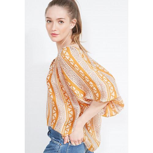 Sapphire print  BLOUSE  Safara Mes demoiselles fashion clothes designer Paris