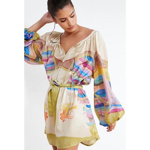 Ecru print  BLOUSE  Sum Mes demoiselles fashion clothes designer Paris