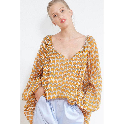 Ocre  BLOUSE  Fauve Mes demoiselles fashion clothes designer Paris