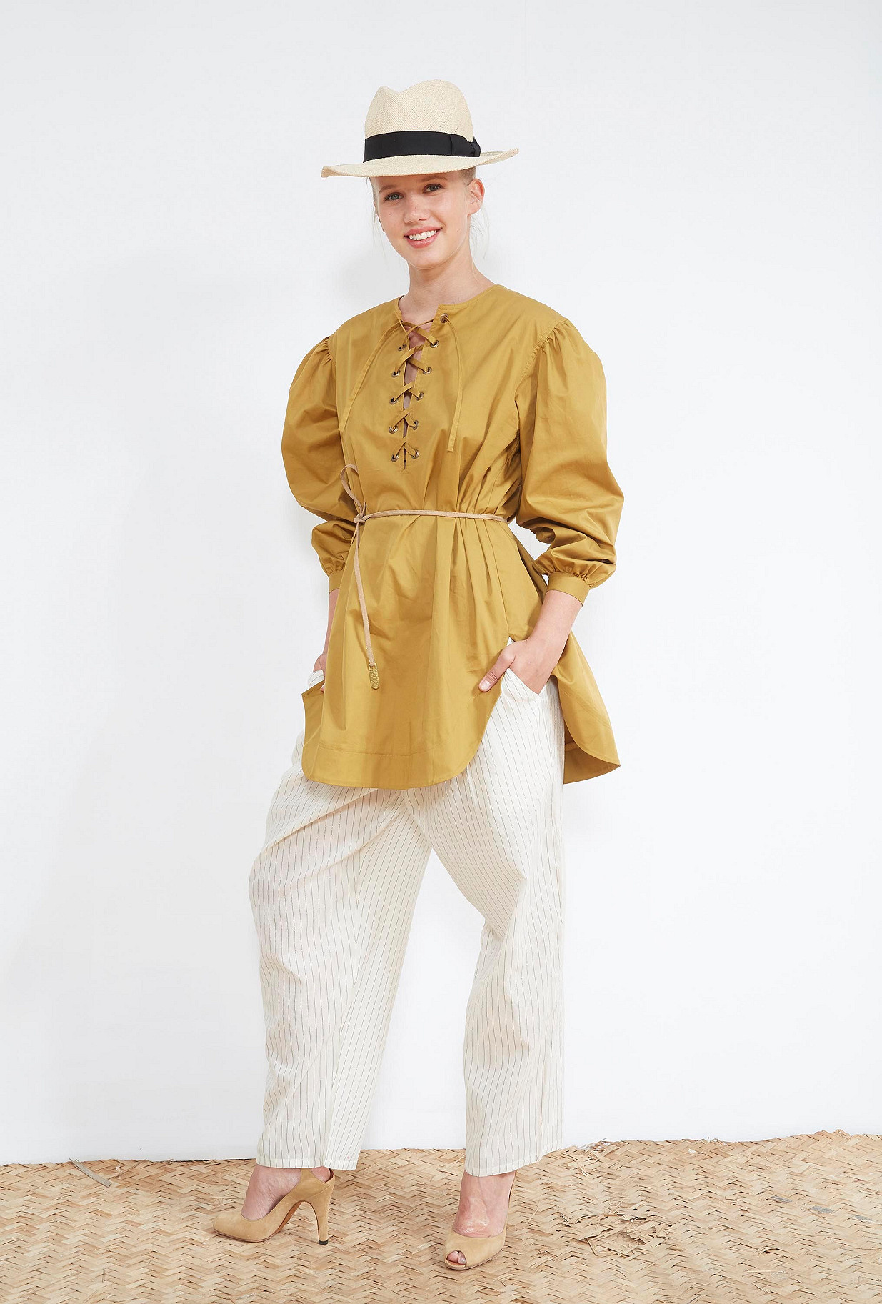 Khaki BLOUSE Hopper Mes Demoiselles Paris
