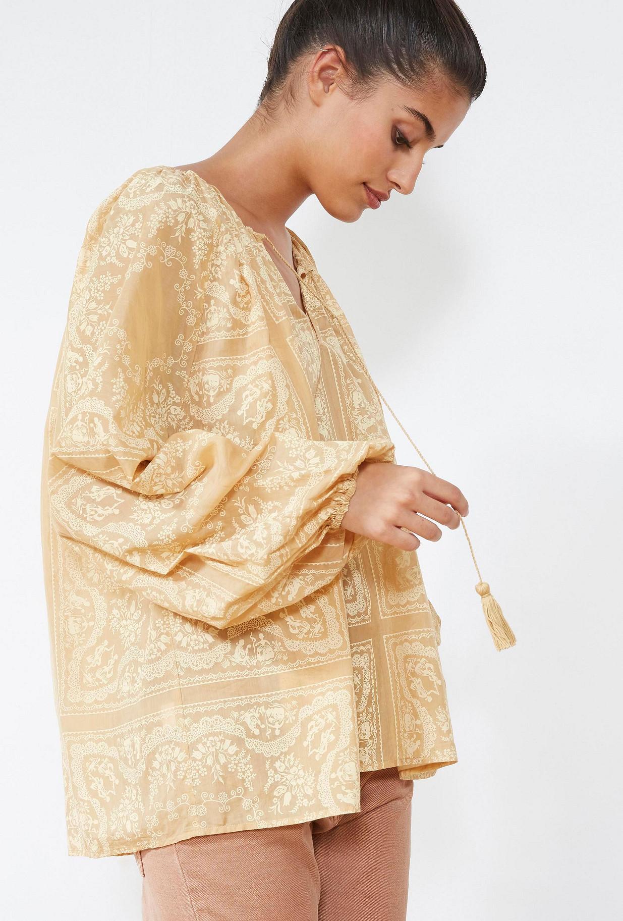 Natural  BLOUSE  Jouvenceau Mes demoiselles fashion clothes designer Paris