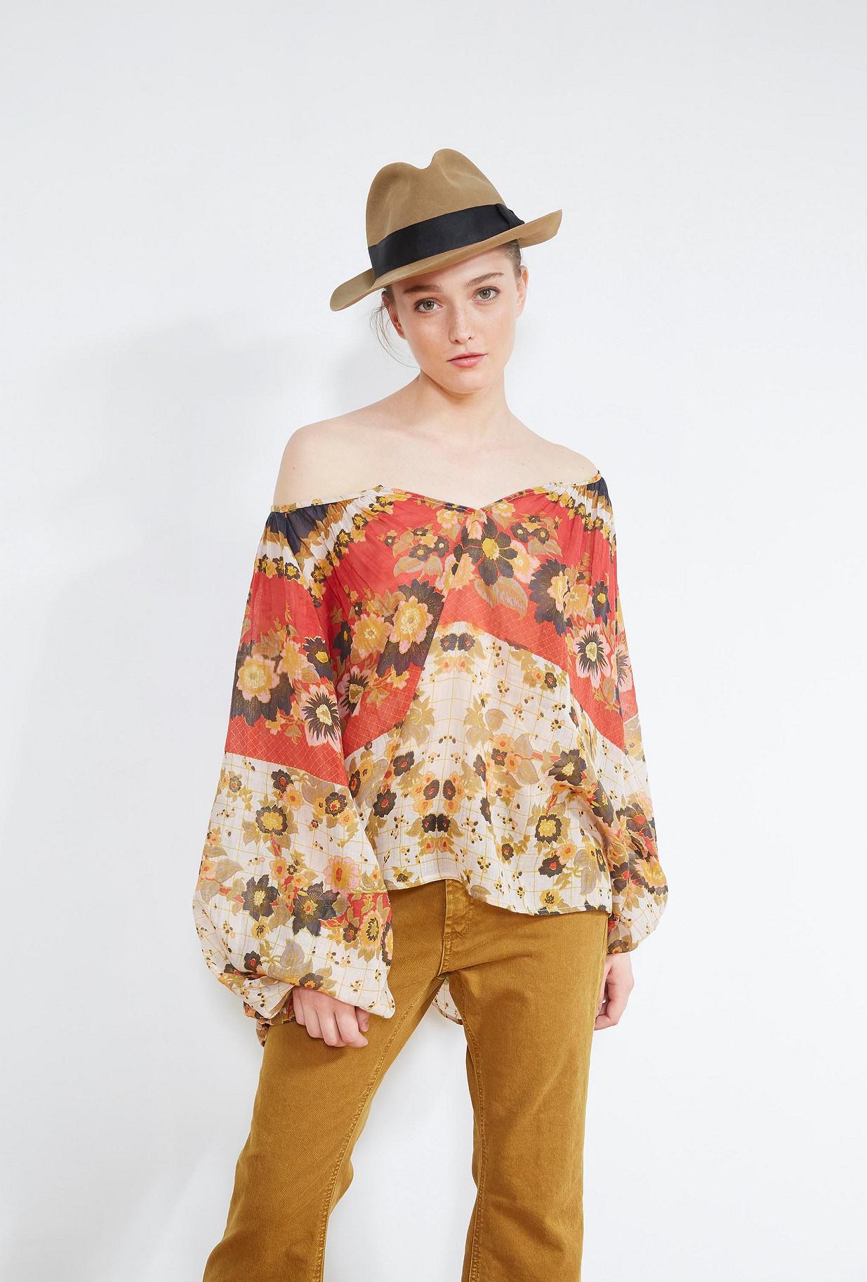 Floral print  BLOUSE  Marushka Mes demoiselles fashion clothes designer Paris