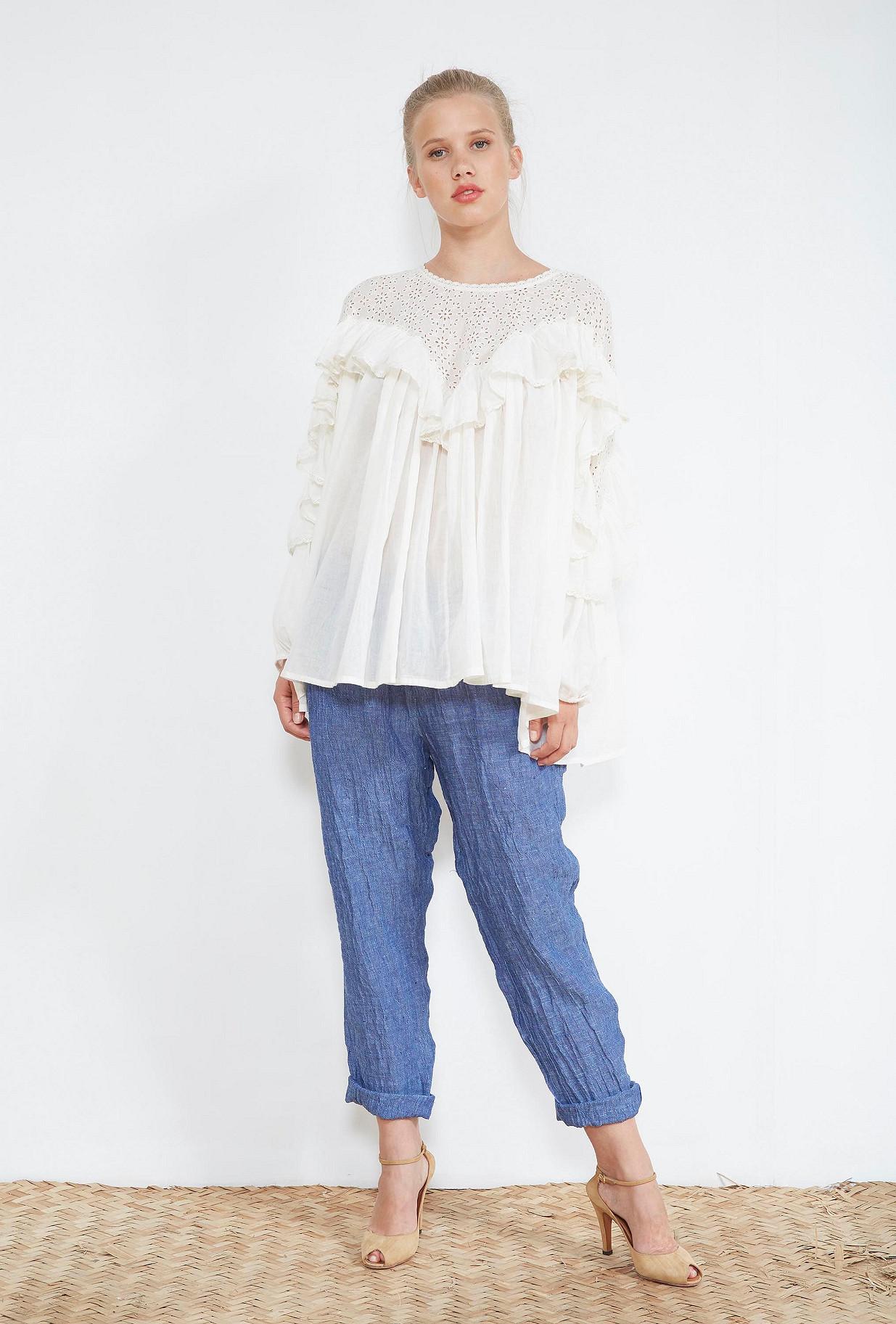 Ivory  BLOUSE  Ohara Mes demoiselles fashion clothes designer Paris
