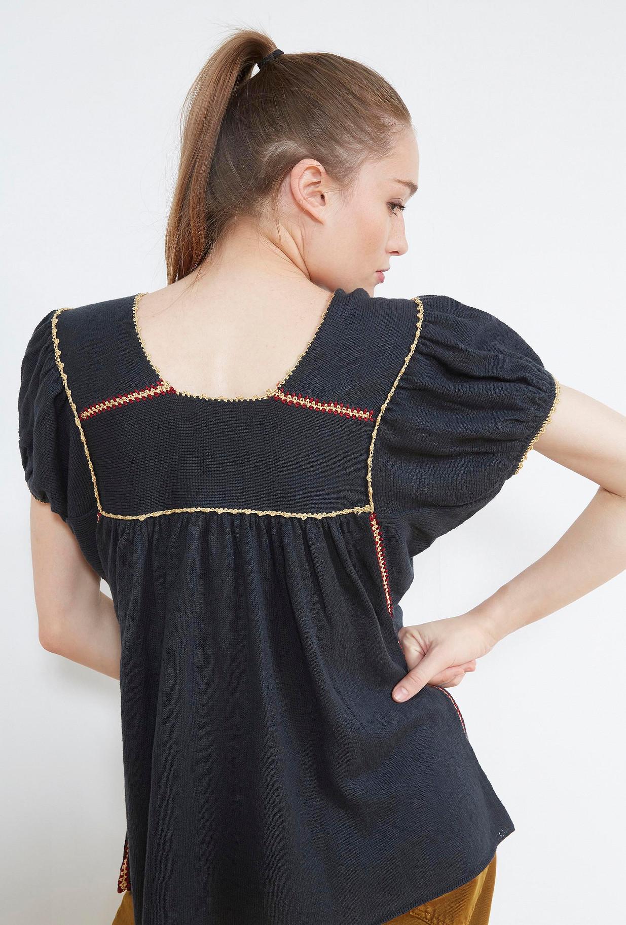Black  TOP  Tiquita Mes demoiselles fashion clothes designer Paris
