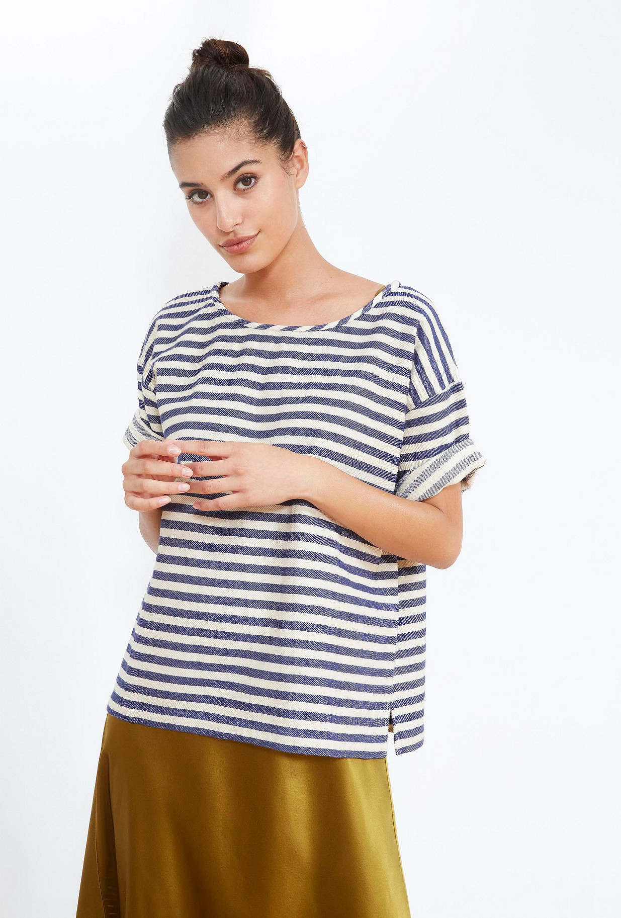 Blue stripe  TOP  Galet Mes demoiselles fashion clothes designer Paris
