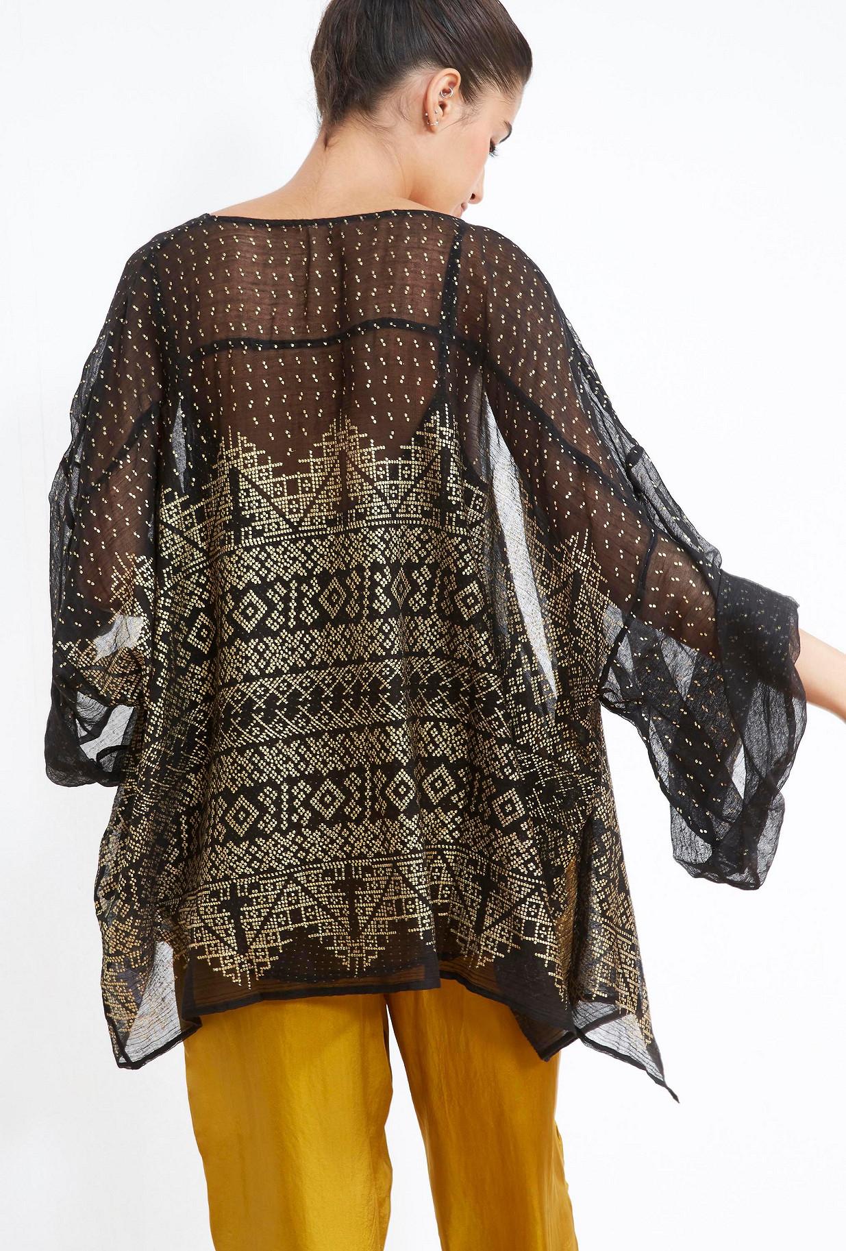 Ecru  KIMONO  Benares Mes demoiselles fashion clothes designer Paris
