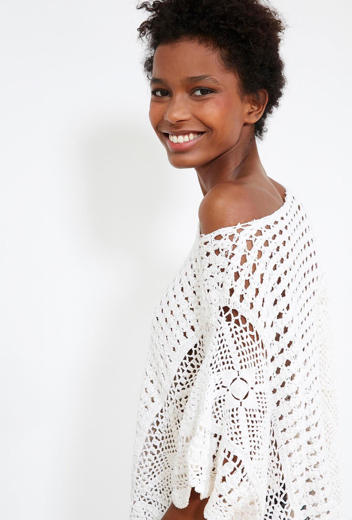 PONCHO Ivoire  Selecte mes demoiselles paris vêtement femme paris