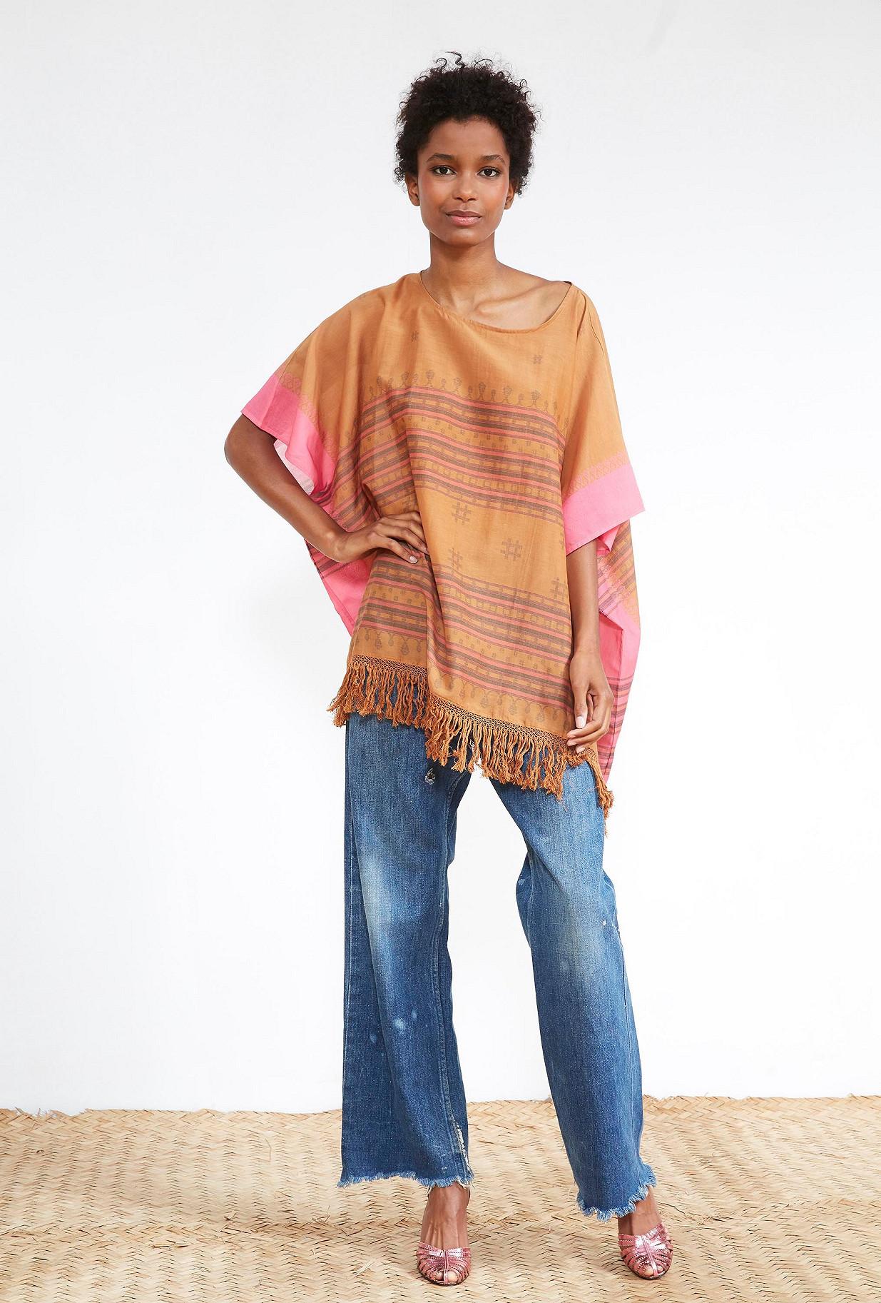 PONCHO  Safran Mes demoiselles fashion clothes designer Paris