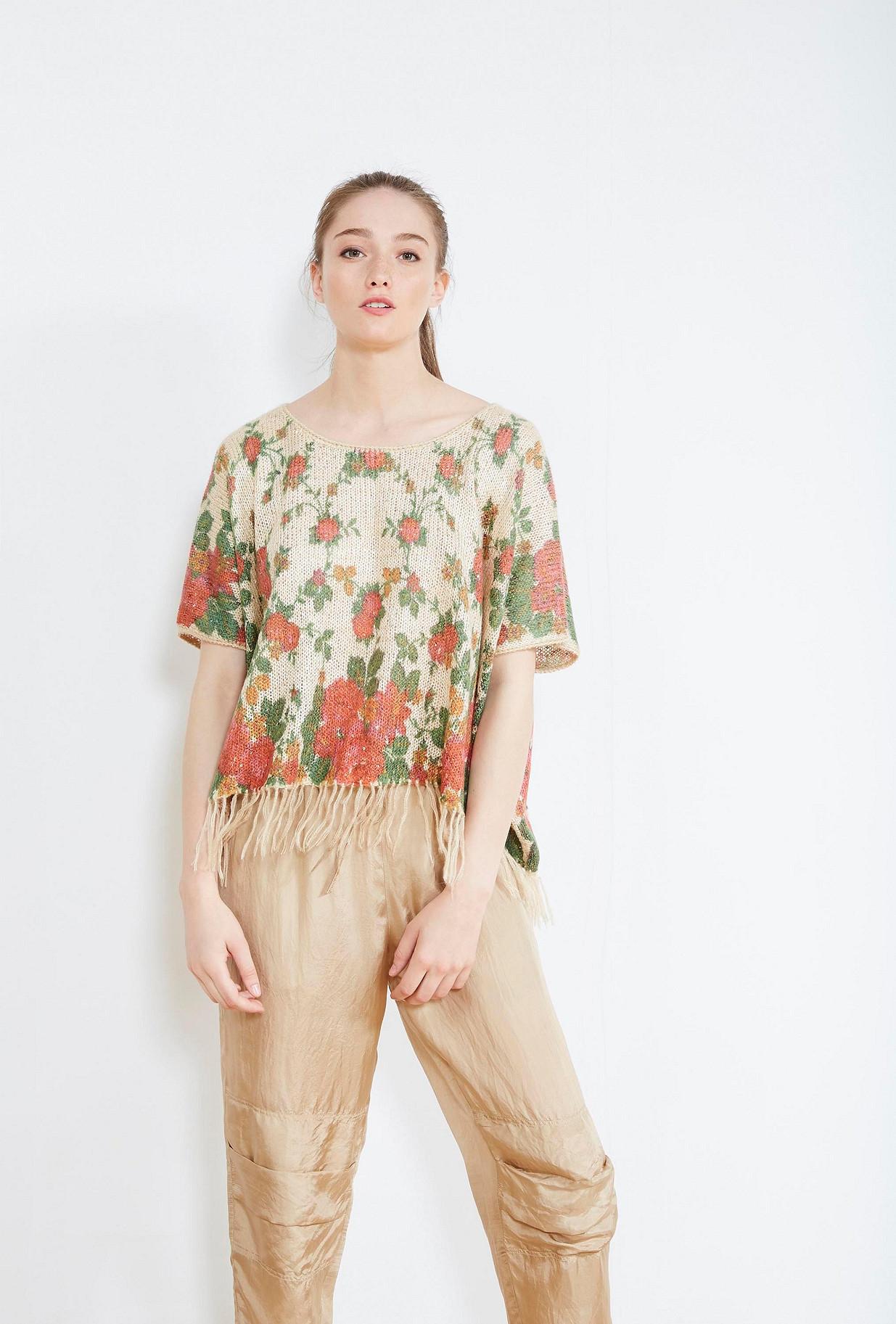 PONCHO Imprimé fleuri  Macha mes demoiselles paris vêtement femme paris