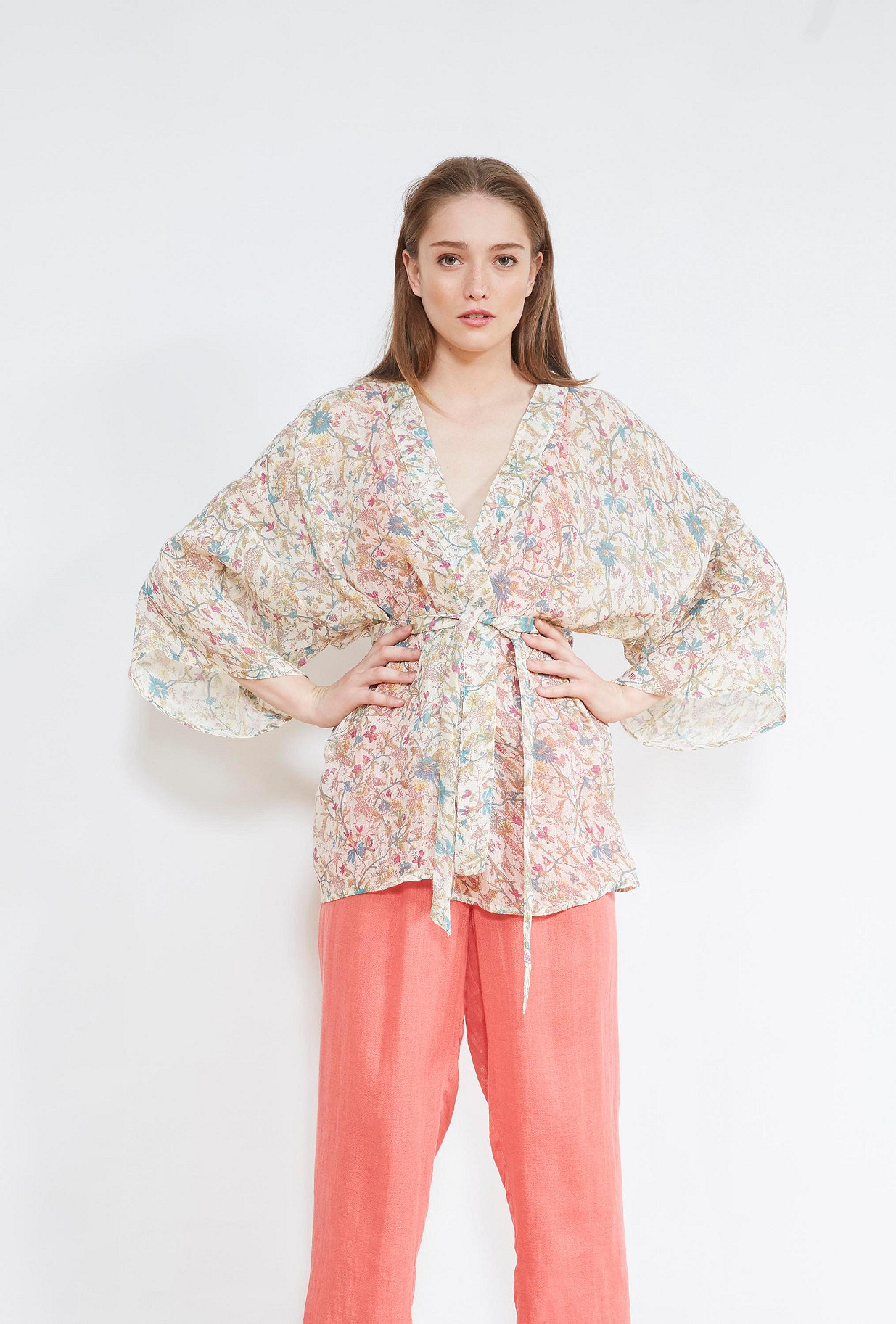 Floral print  KIMONO  Tilde Mes demoiselles fashion clothes designer Paris