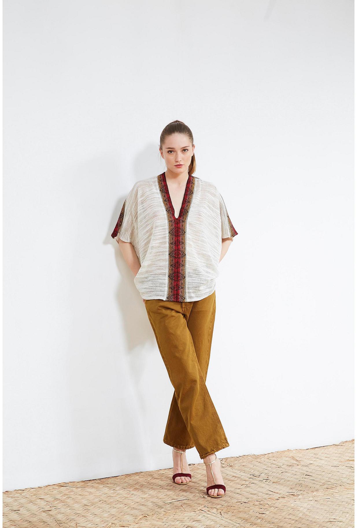 Ivory  PONCHO  Makeda Mes demoiselles fashion clothes designer Paris