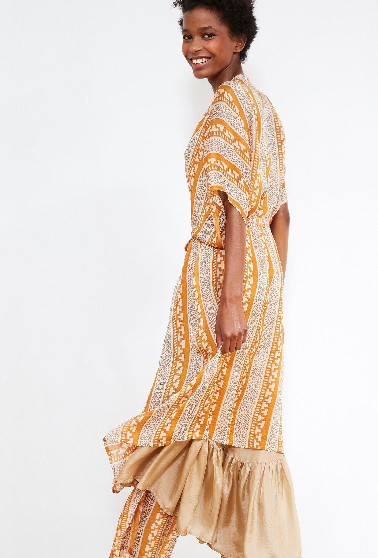 Sapphire print  KIMONO  Swahili Mes demoiselles fashion clothes designer Paris