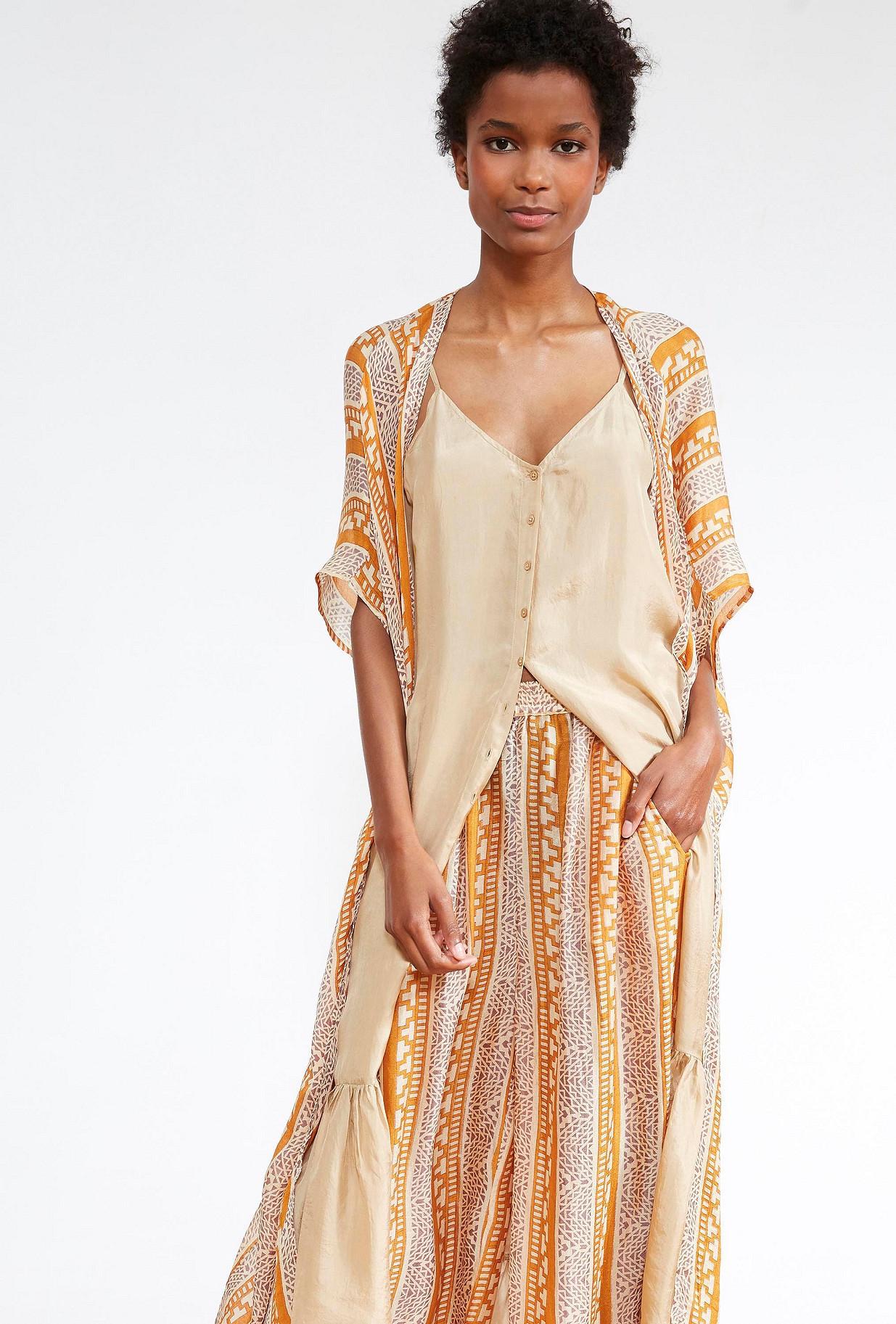 KIMONO Imprimé saphir  Swahili mes demoiselles paris vêtement femme paris