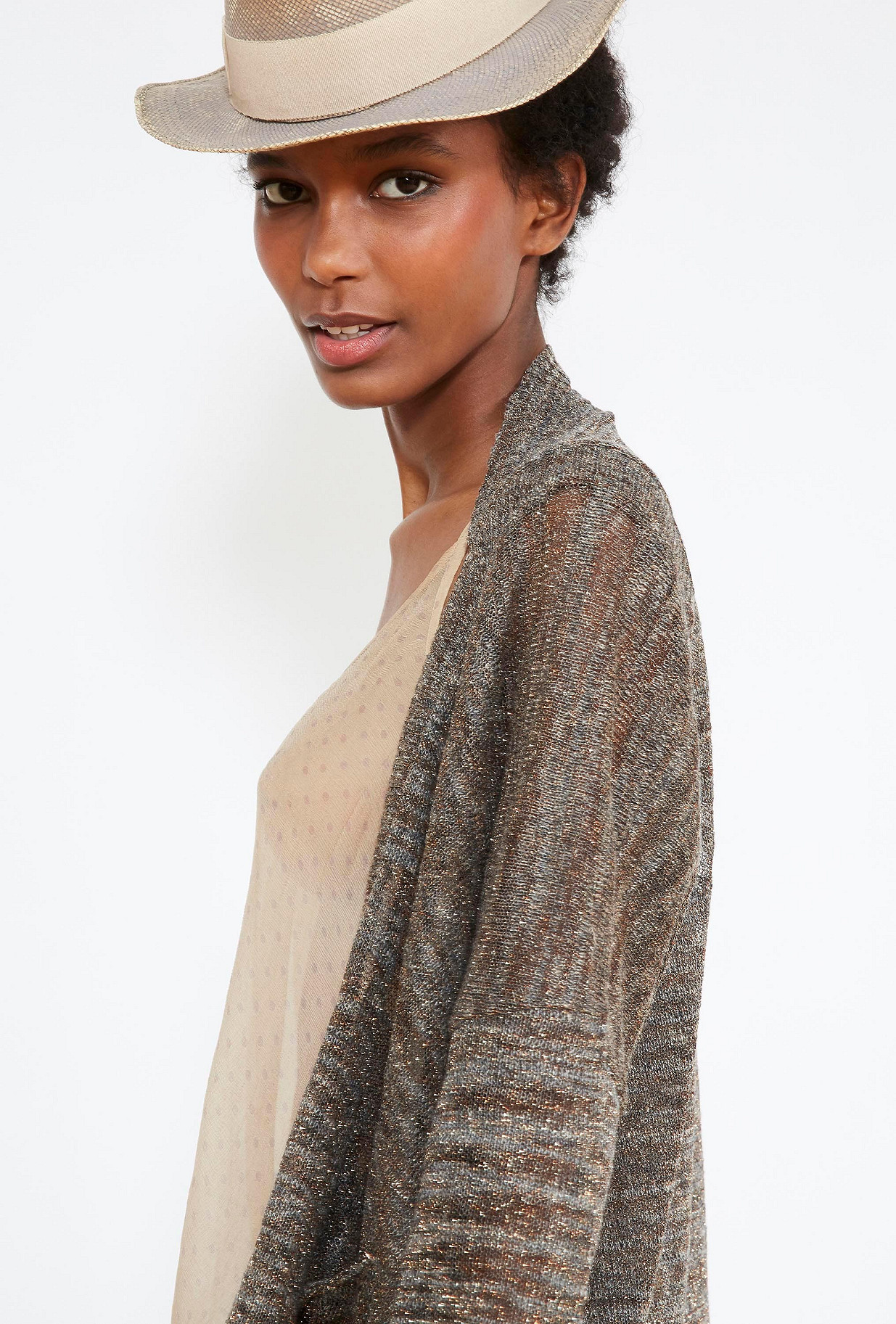 Grey  KNITTED  Baizen Mes demoiselles fashion clothes designer Paris