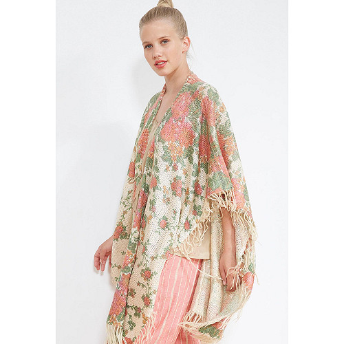 Floral print  KIMONO  Matriosh Mes demoiselles fashion clothes designer Paris