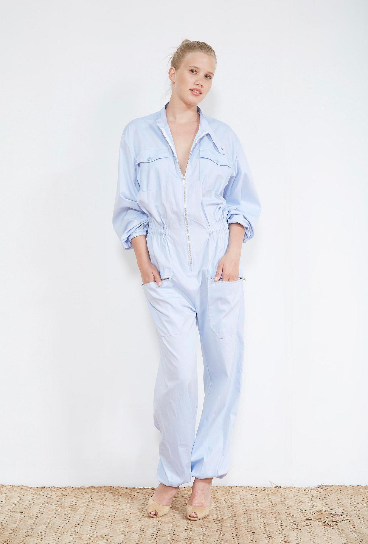 Blue  PANTS  Montecorlo Mes demoiselles fashion clothes designer Paris
