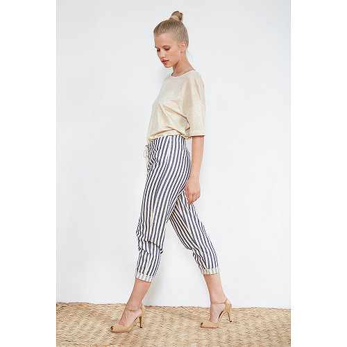 PANTS Garrigue Mes Demoiselles color Blue stripe
