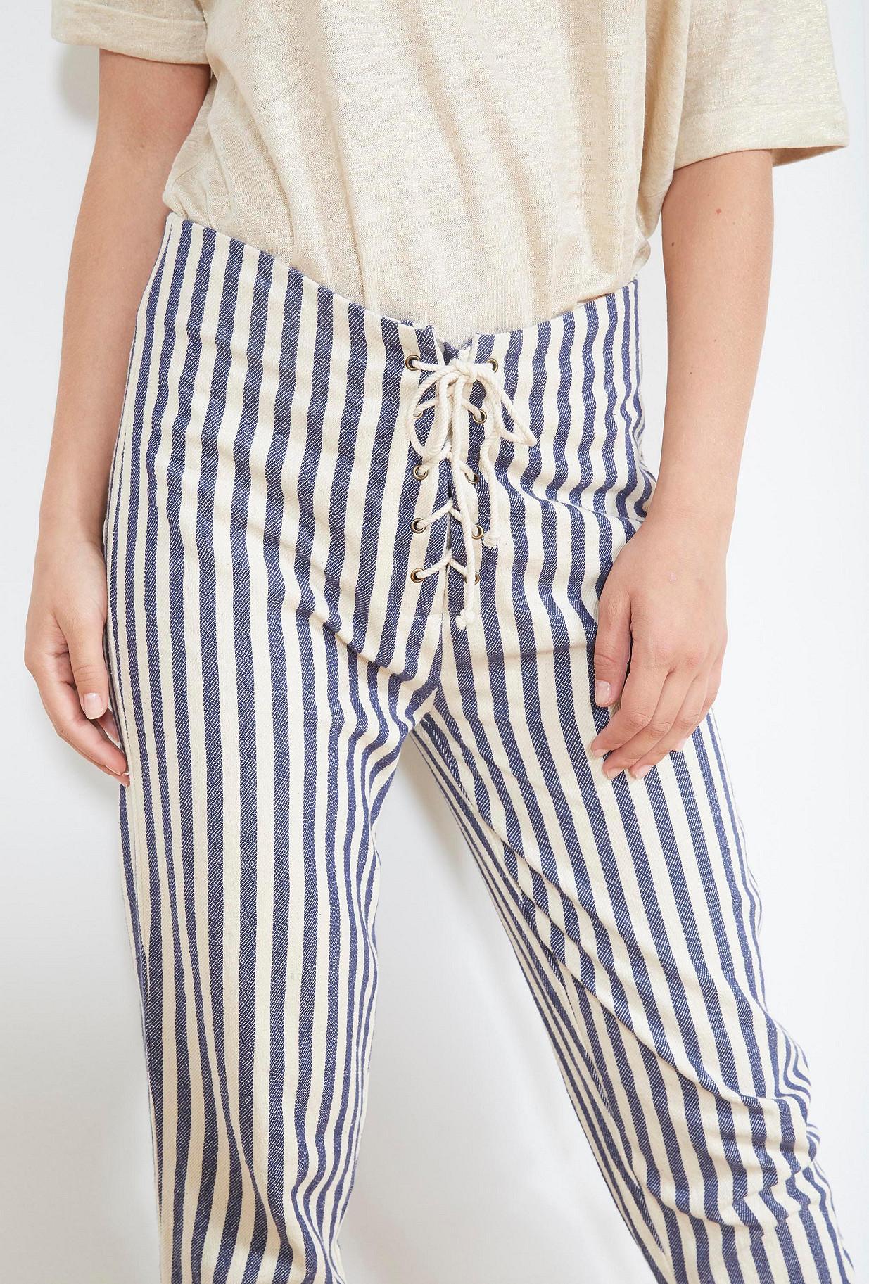 Blue stripe  PANTS  Garrigue Mes demoiselles fashion clothes designer Paris