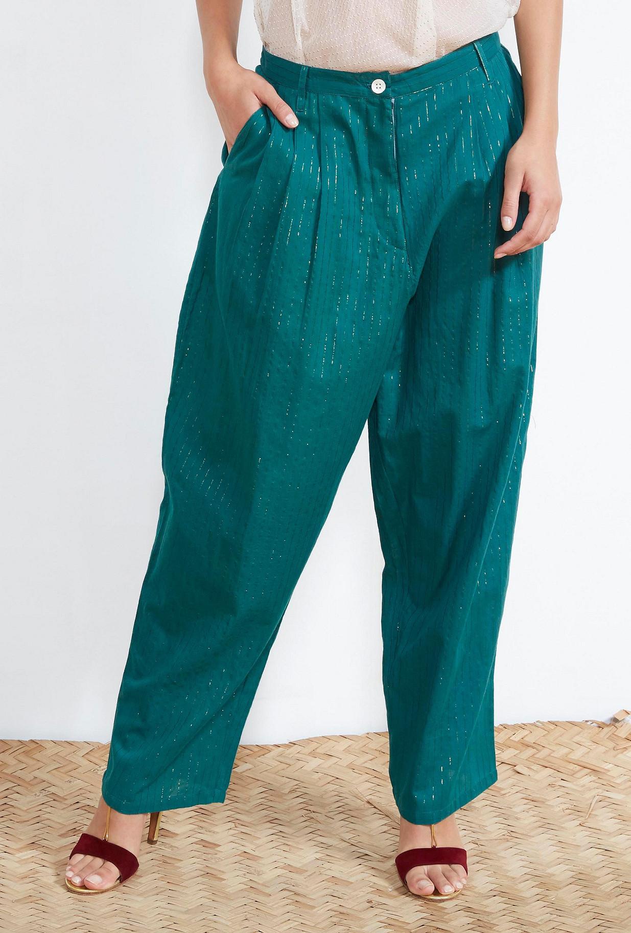 Green PANTS Santiago Mes Demoiselles Paris