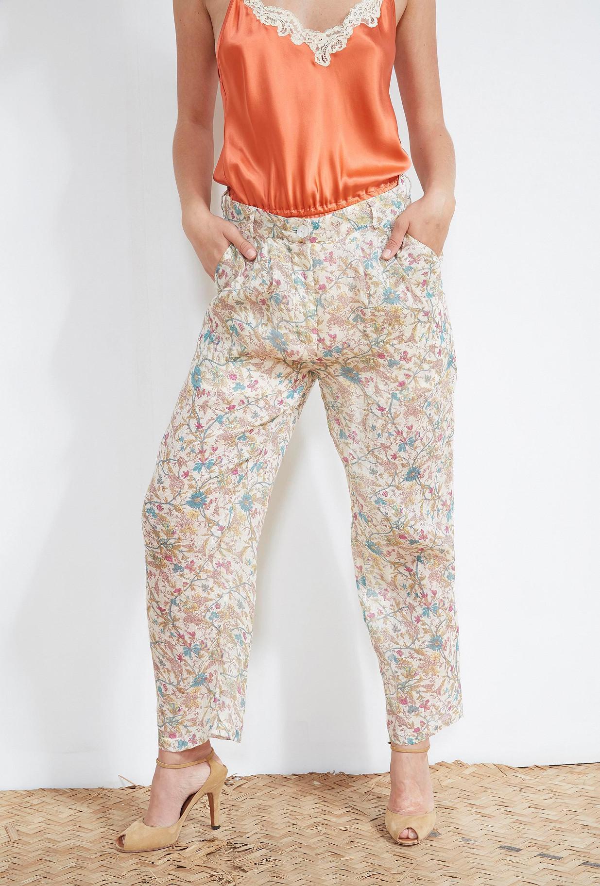 Floral print PANTS Timeo
