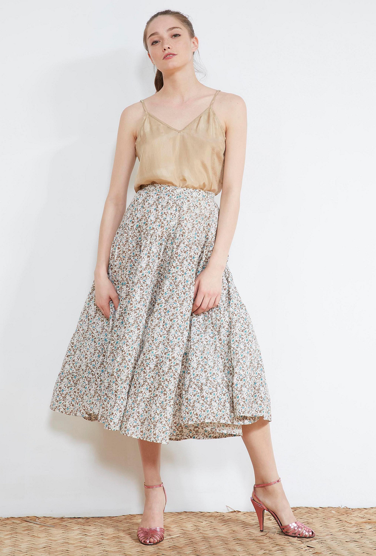Floral print SKIRT Wight Mes Demoiselles Paris