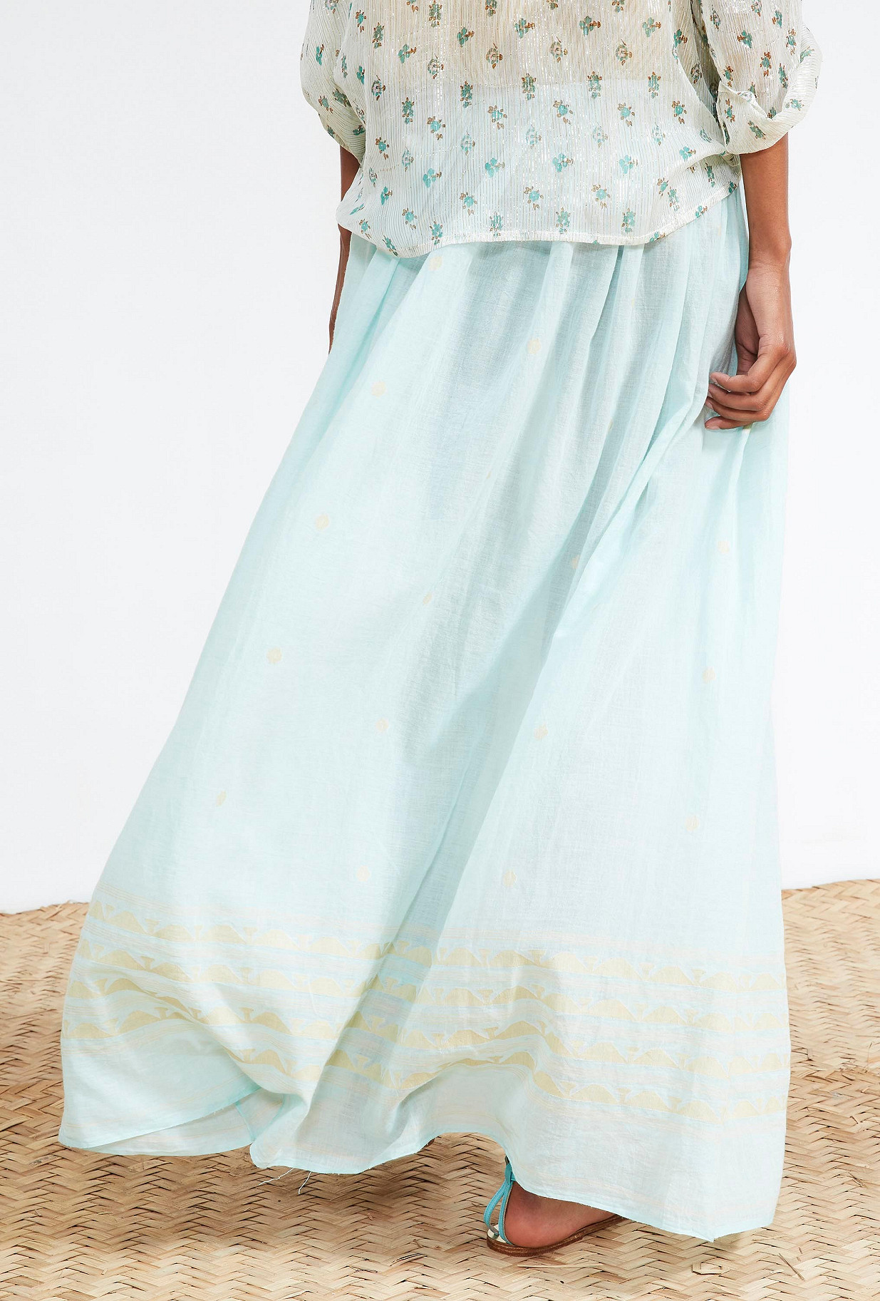 Aqua  SKIRT  Tahiti Mes demoiselles fashion clothes designer Paris