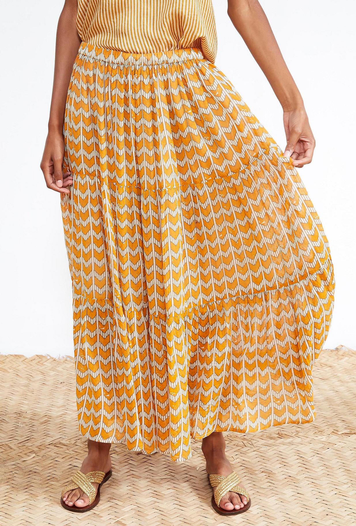 Ocre  SKIRT  Farouche Mes demoiselles fashion clothes designer Paris