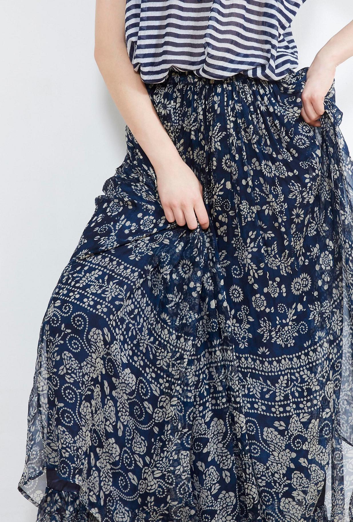 Blue print  SKIRT  Batu Mes demoiselles fashion clothes designer Paris