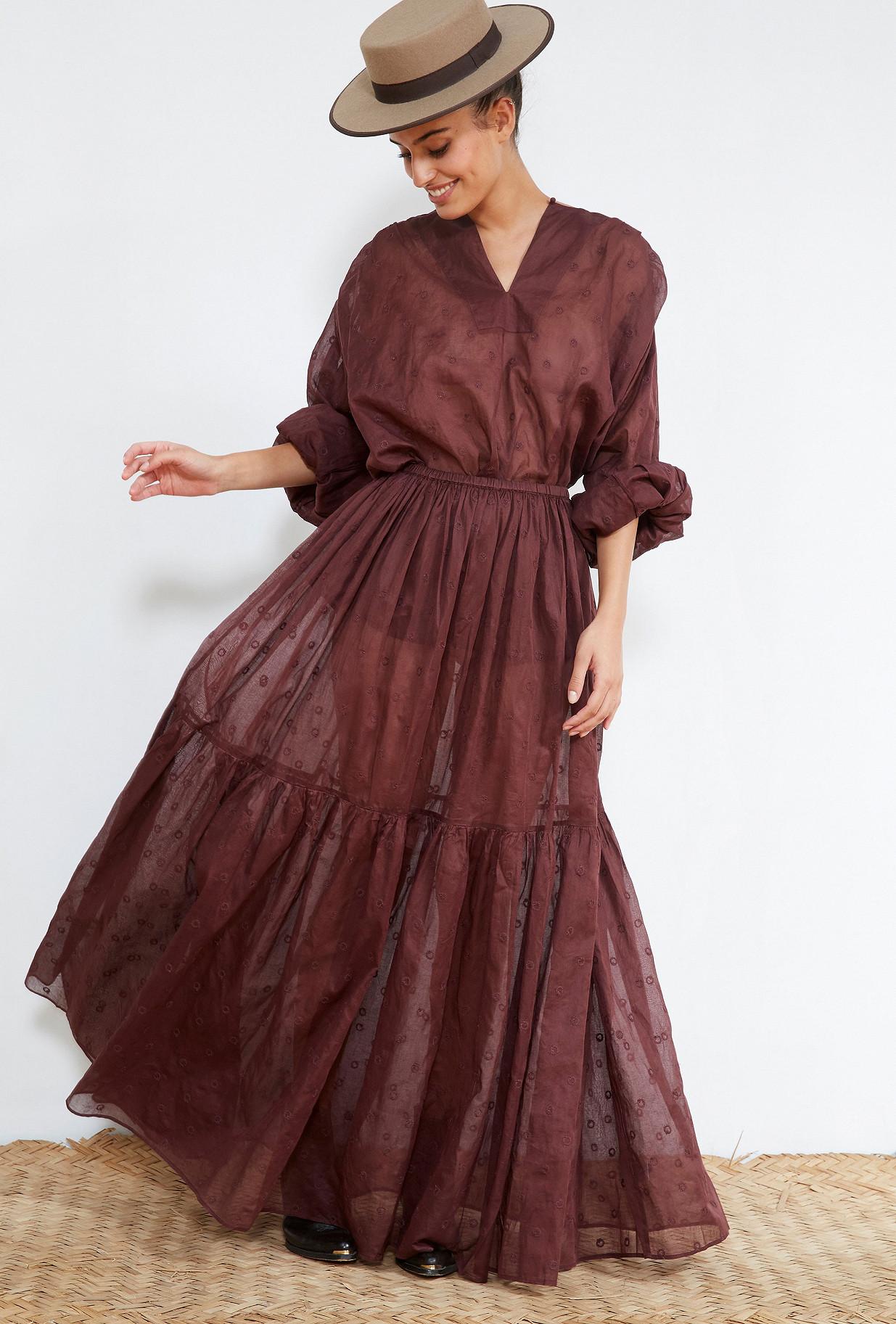 Berry  SKIRT  Andromaque Mes demoiselles fashion clothes designer Paris