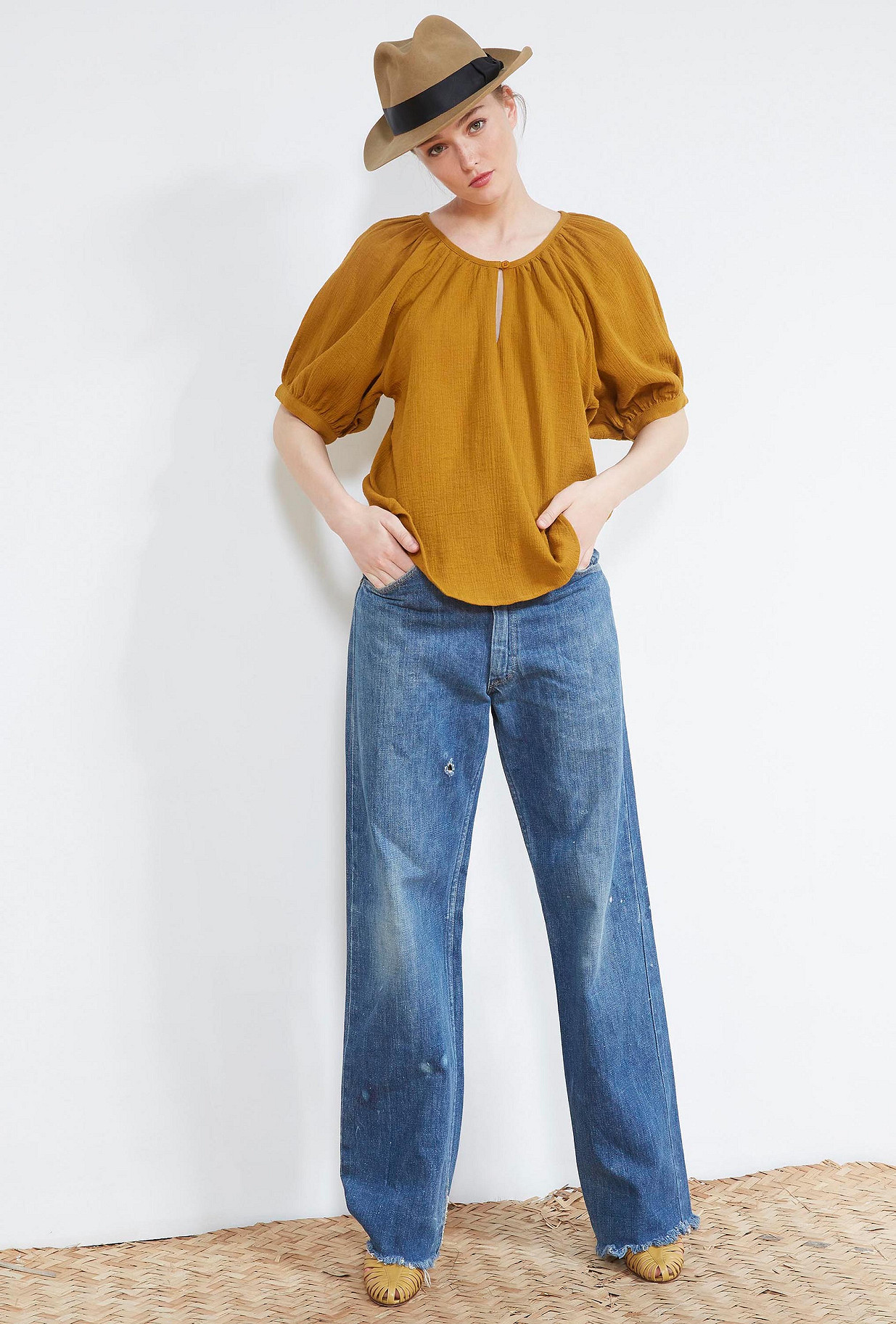 Ocre BLOUSE Igloo Mes Demoiselles Paris