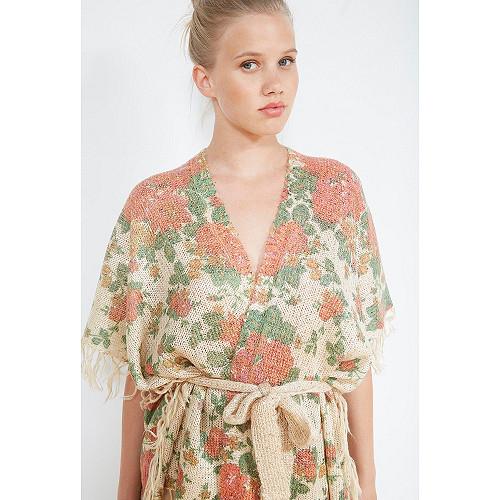 Floral print  KIMONO  Malinka Mes demoiselles fashion clothes designer Paris