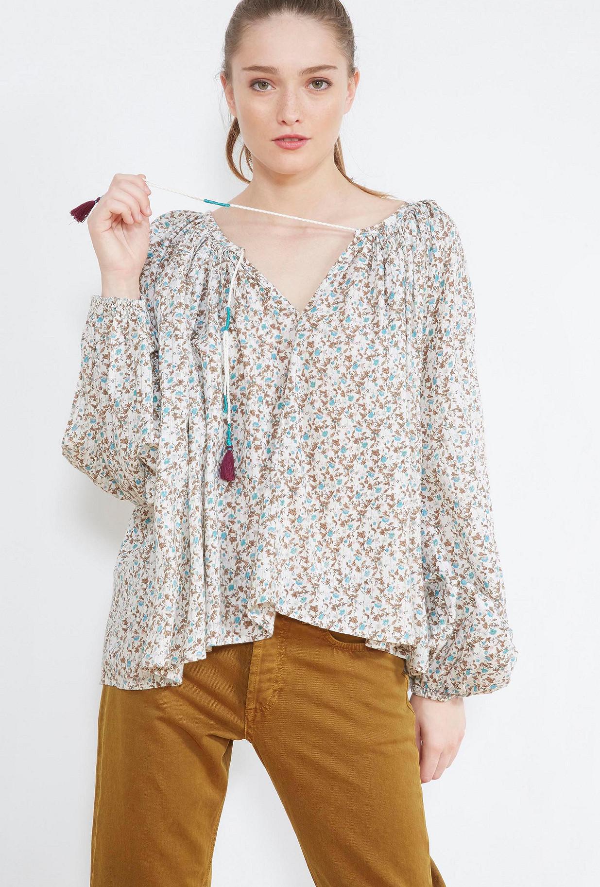 Floral print  BLOUSE  Woodstock Mes demoiselles fashion clothes designer Paris