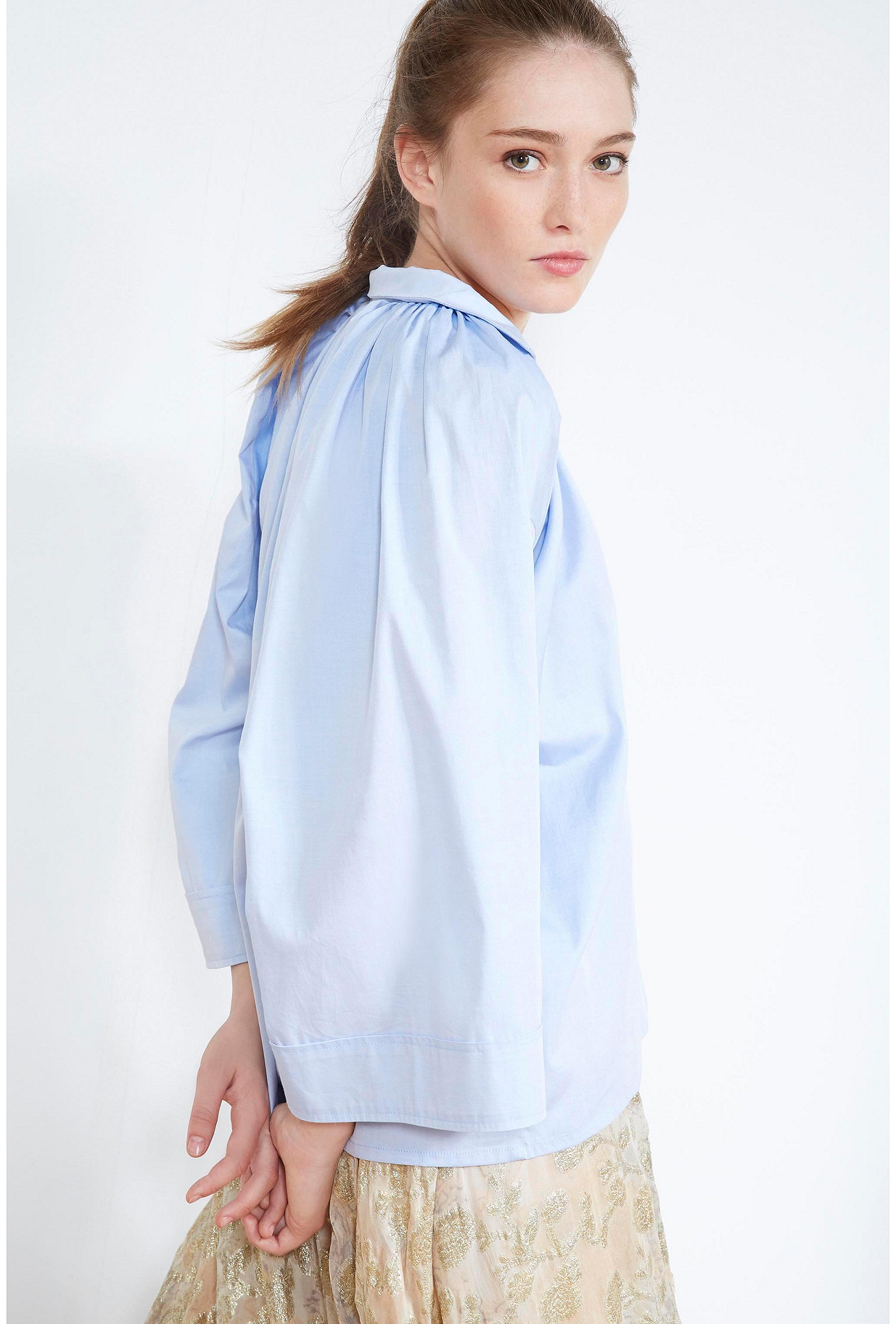 Blue  BLOUSE  Moss Mes demoiselles fashion clothes designer Paris