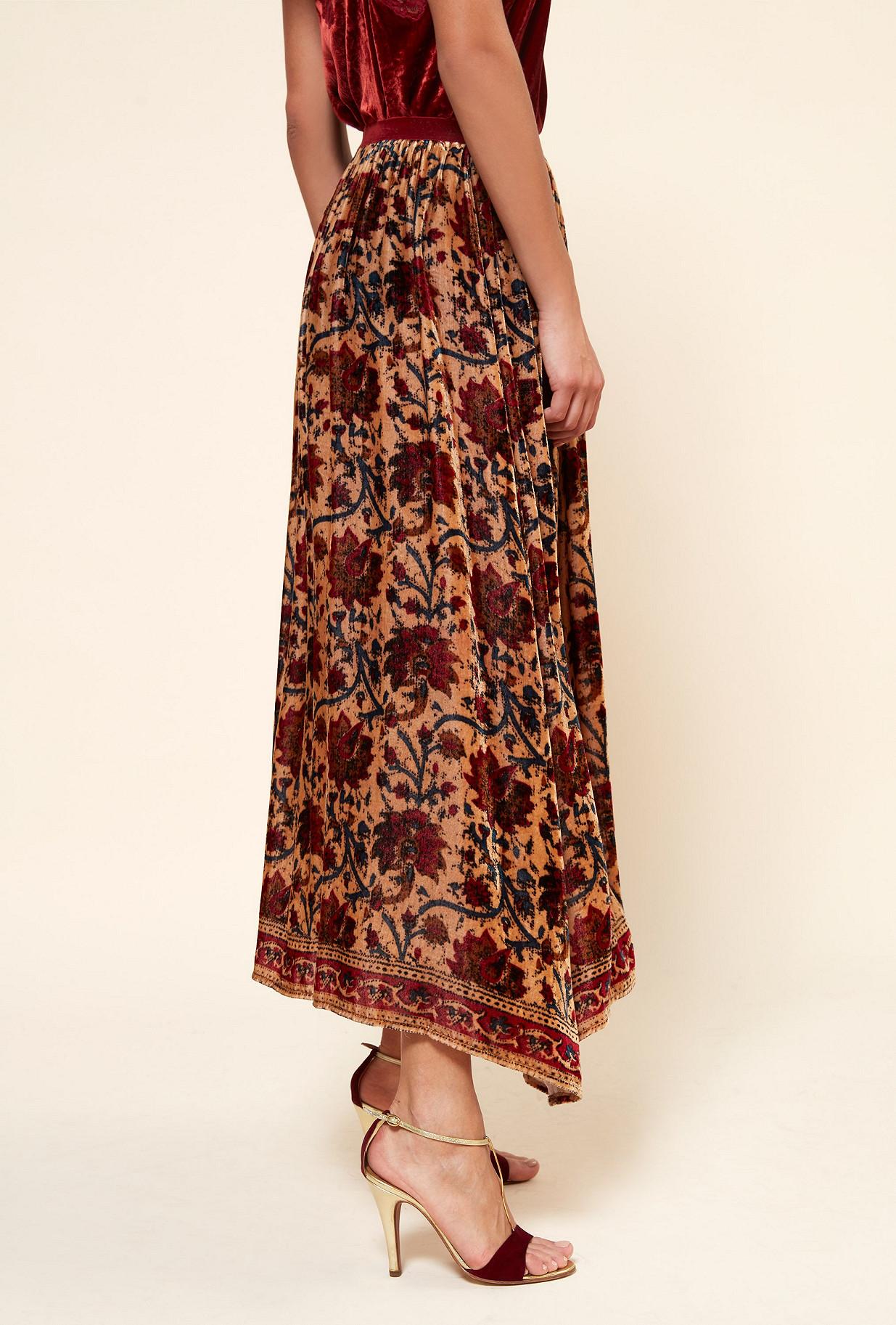 Floral print  Skirt  Coche Mes demoiselles fashion clothes designer Paris