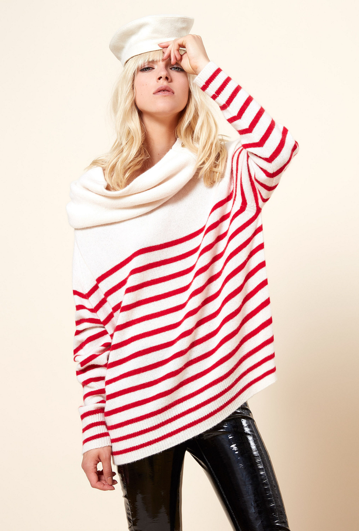 Red stripe  Knit  Corsaire Mes demoiselles fashion clothes designer Paris