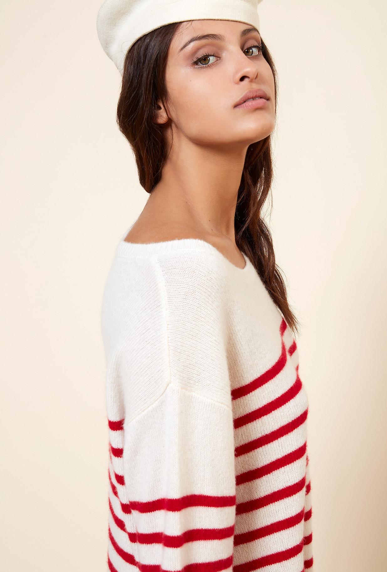 Red stripe Knit Cruise Mes Demoiselles Paris