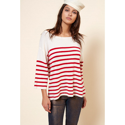 Knit Cruise Mes Demoiselles color Red stripe
