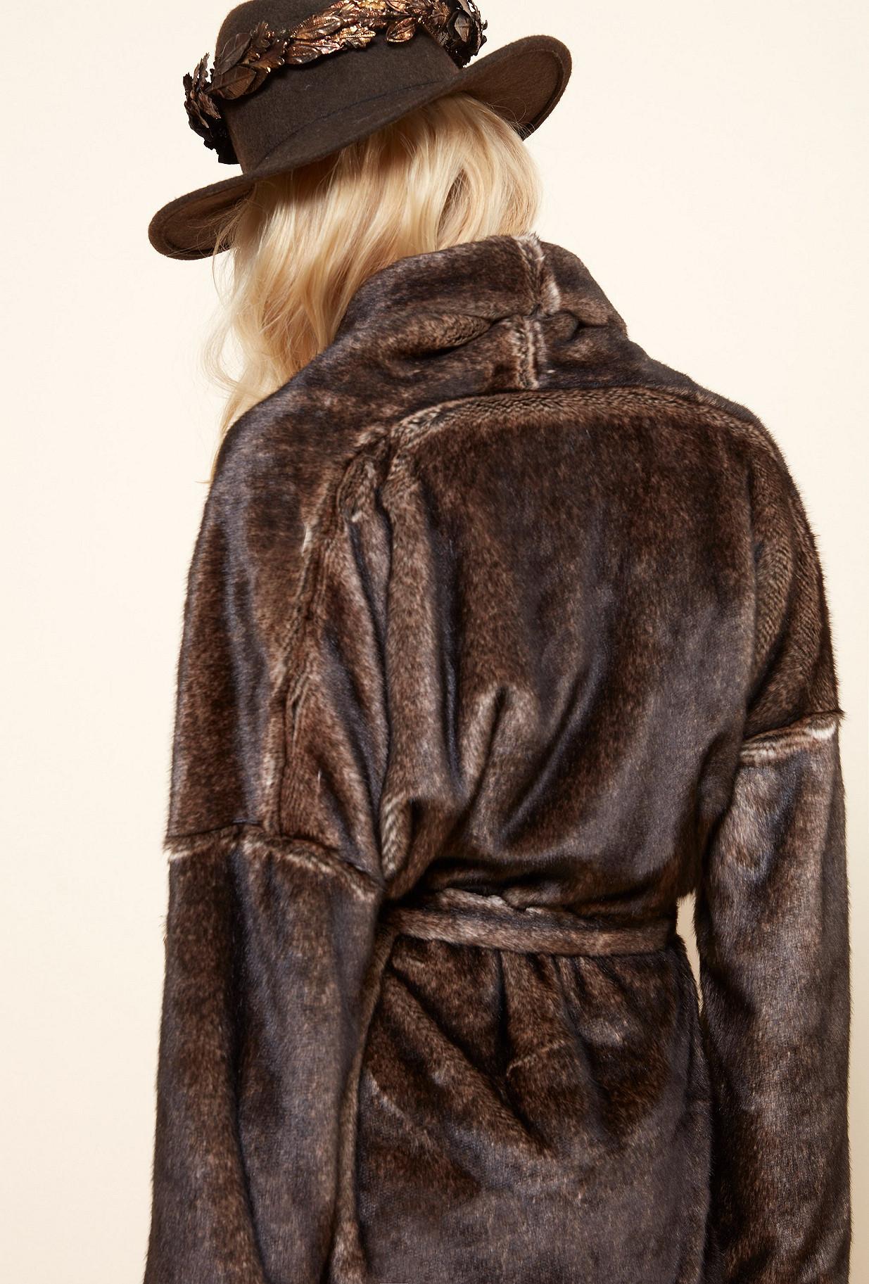 Brown COAT Maroon Mes Demoiselles Paris