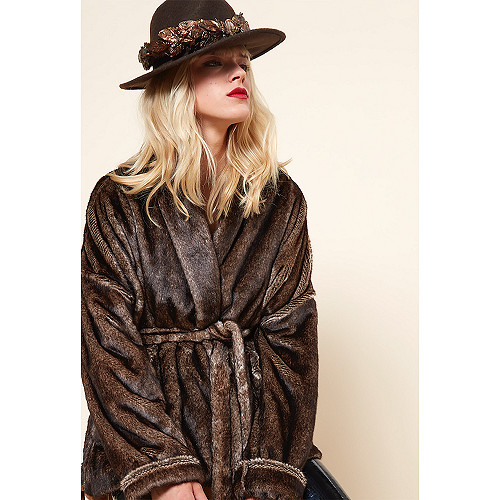 COAT Maroon Mes Demoiselles color Brown