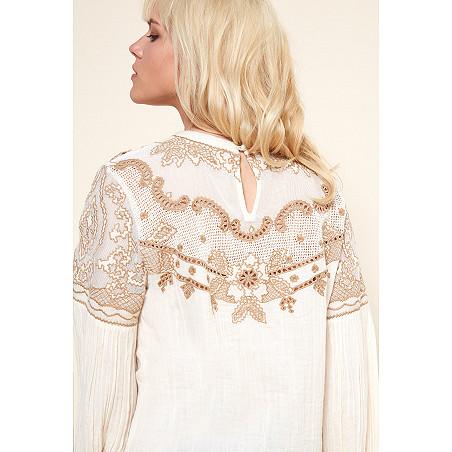 boutique de vetement BLOUSE createur boheme  Embroidered blouse meridienne