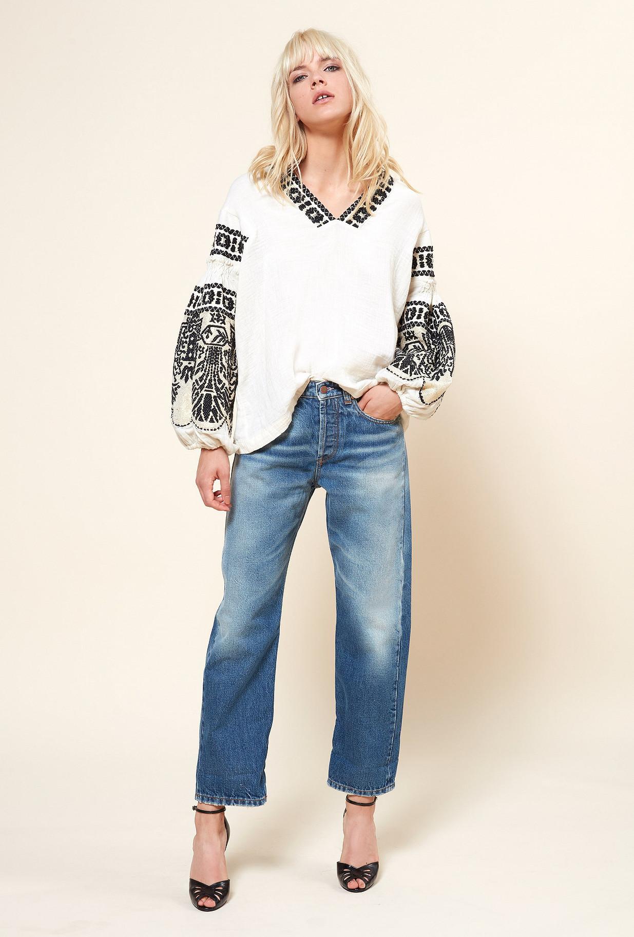 Ivory  Blouse  Petra Mes demoiselles fashion clothes designer Paris